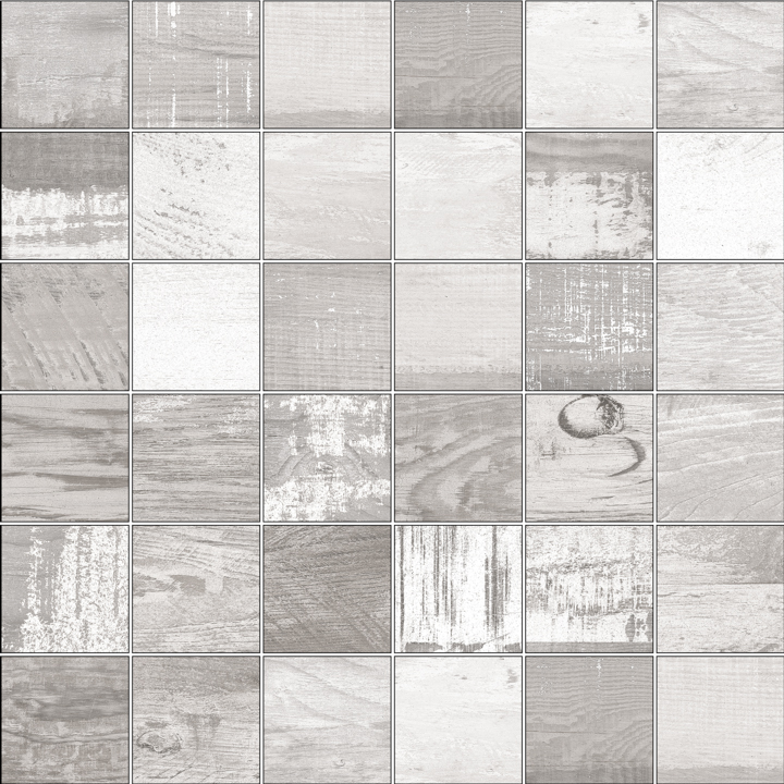 CHALKWOOD WHITE NATURAL MOSAICO 5X5