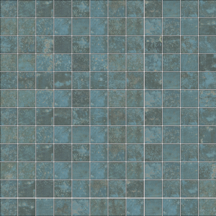 GRUNGE BLUE MOSAICO 2.5X2.5