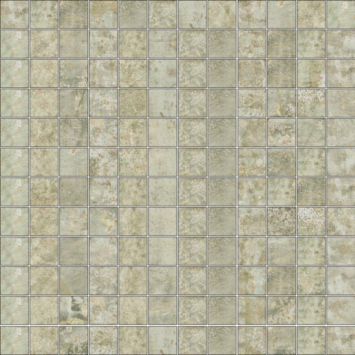 GRUNGE GREY MOSAICO 2.5X2.5
