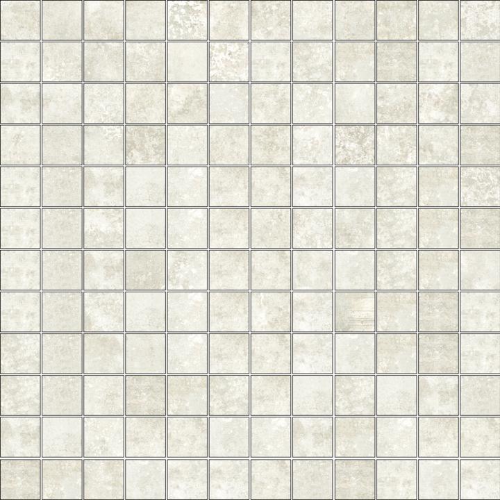 GRUNGE WHITE MOSAICO 2.5X2.5