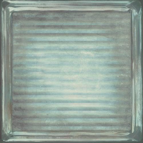 GLASS BLUE BRICK