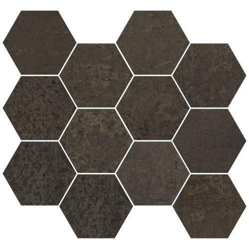METALLIC BROWN NAT. MOS. HEXAGONAL