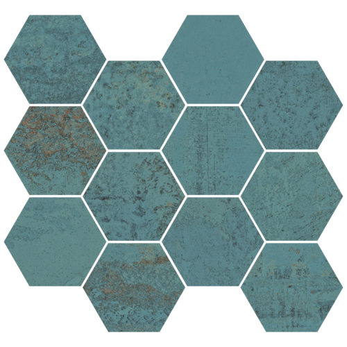 METALLIC GREEN NAT. MOS. HEXAGONAL