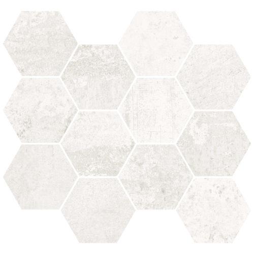 METALLIC WHITE NAT. MOS. HEXAGONAL